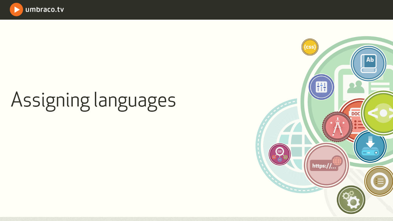 Assigning languages