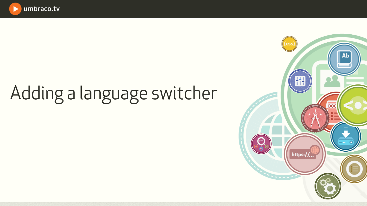 Adding a language switcher