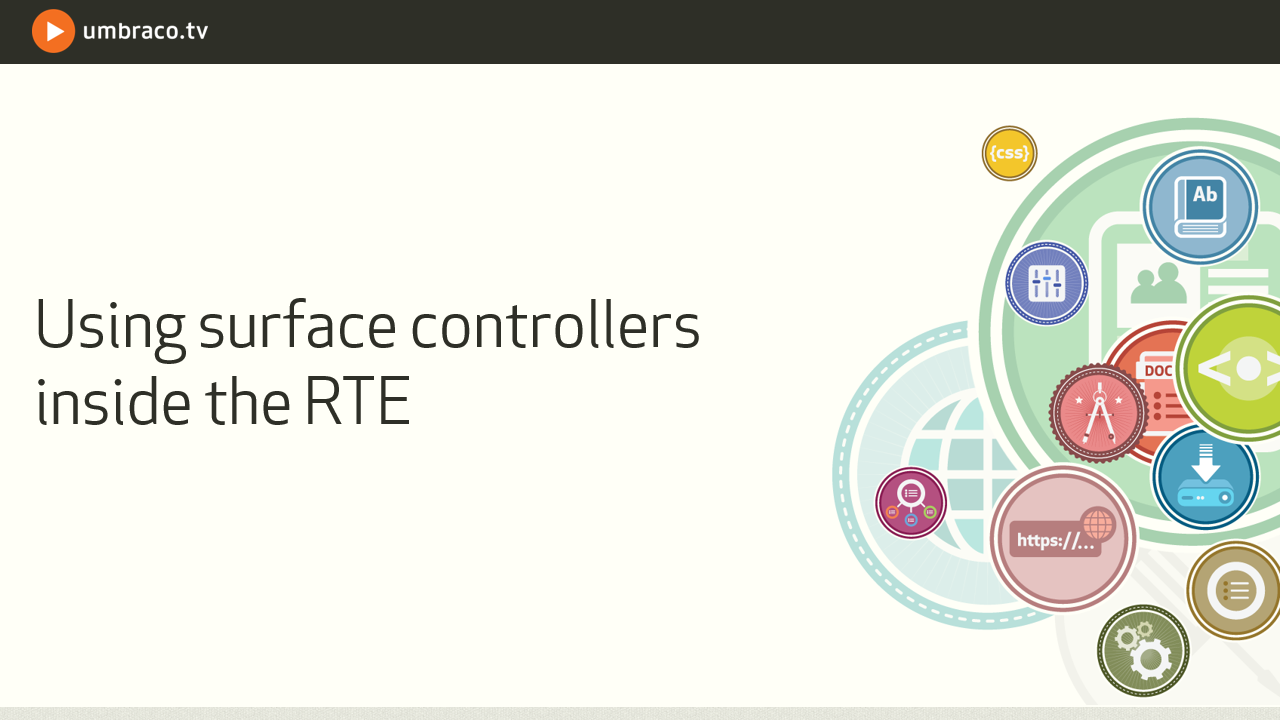 Using surface controllers in the RTE