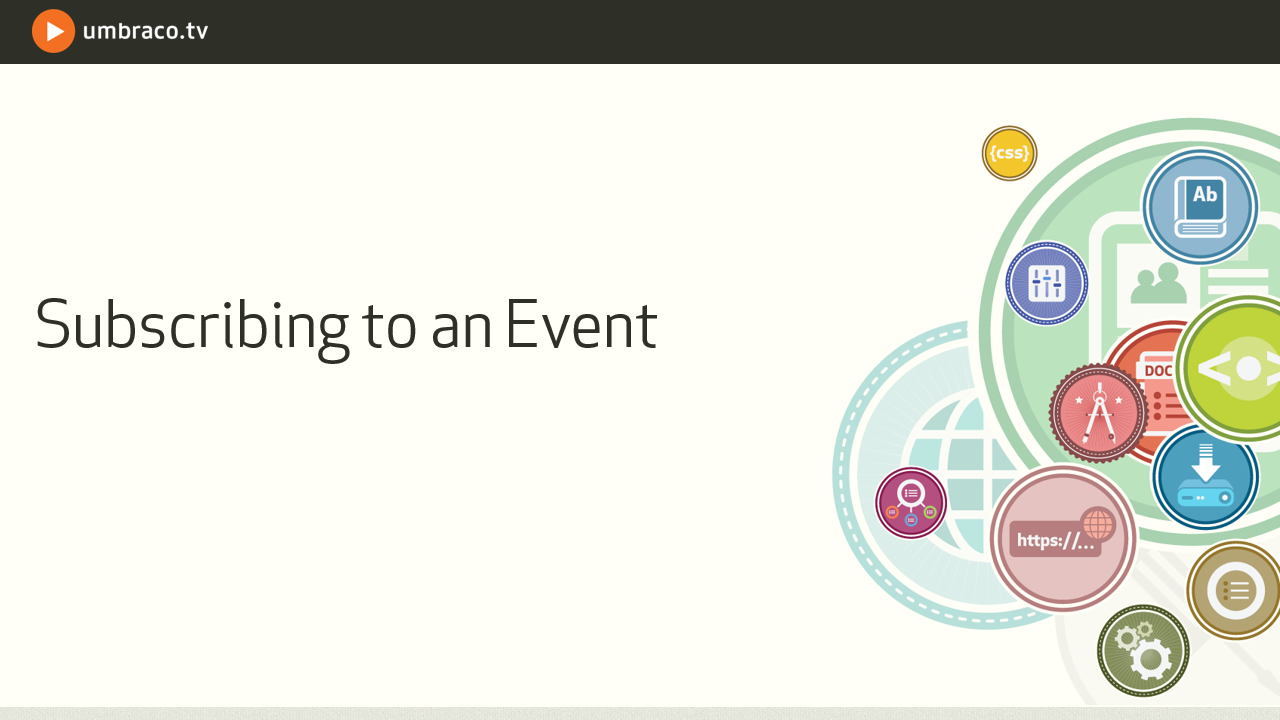 Subscribing to an event